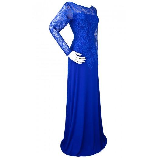 Vestido longo de Noite Mangas Compridas Rendas  1104