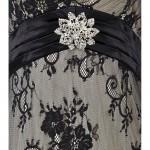 Vestido longo Strapless de Cristal Floral Malha e estilo sereia, Vestido de Noite 1083