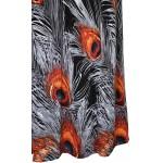 Vestido Longo Gola Redonda Beading desenho Pavão, vestido de festa e Noite 1150