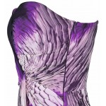 Vestido de Noite Strapless de Cristal Plissado , Festa Casamento 1112