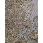 Vestido longo vintage com bordados, Vestido de noite e casamento 1085