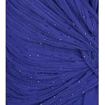 Vestido Longo sem Mangas Plissadas Criss Cross-Beading Chiffon Vestido de Noite 1146