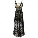 Vestido longo de Noite, festa estilo Borboleta 1109