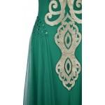 Vestido Longo Strapless Floral Apliques de Lantejoulas, Vestidos de Festa 1132
