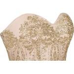 Vestido de Noite Abendkleid Strapless Lantejoulas, Festa Casamento 1110