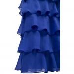 Vestido de Noite Abendkleid Strapless Beading Camadas Ruffles Slit , Festa Casamento 1117