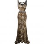 Vestido de Noite Estilo Leopardo  , Festa Casamento 1128