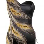 Vestido de Noite de Um Ombro Apliques Lace Up Satin  , Festa Casamento 1127