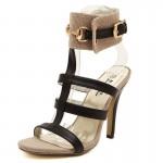 Sandália sexy Bracelete no tornozelo salto alto  1075