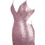 Vestido de Noite V neck Lantejoulas Backless , Festa Casamento 1118