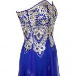 Vestido Longo Estilo Anjo vestido de festa, Strapless apliques flores Lace up Vestido de Noite 1147
