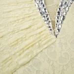 Vestido de Noite Gola em V, Festa Casamento 1122