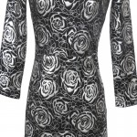 Vestido Moda outono, estilo europeu vestido de verão vintage 1062