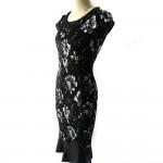 Vestido Estilo europeu feminino, manga curta vintage, vestido cocktail 1066