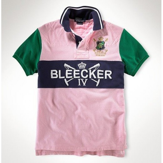 Camisa Polo Rosa Claro Ralph Lauren - Cod 0105
