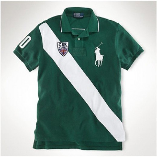 Camisa Polo Verde Escuro Great Britain Big Pony Ralph Lauren - Cod 0025
