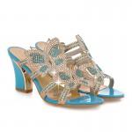 Sandálias mulheres strass salto alto 4 cores 0820