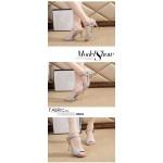 Sandálias mulheres salto alto tira no tornozelo 9 cm de salto alto 0830