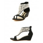 Sandálias mulheres cravejado strass salto alto 2 cores 0822