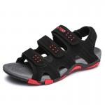 Sandálias para homens de couro respirável 0781