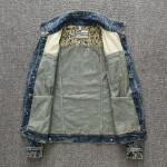 Jaqueta jeans lavado com bandeira americana Cod 0632