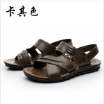Sandálias Masculino de couro de Vaca para praia 0795