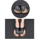 Sandálias Masculino de Couro Pu para uso diário 0803