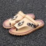 Sandálias Masculino de Couro Pu para uso diário 0804