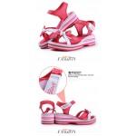 Sandálias mulheres Bowtie Velcro rosa ou azul 0836
