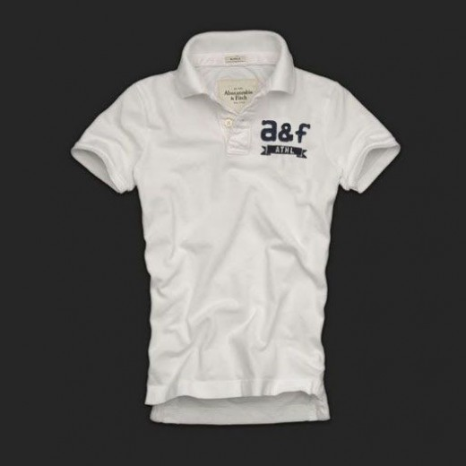 Camisa Polo Branca Abercrombie & Fitch - Cod 0135