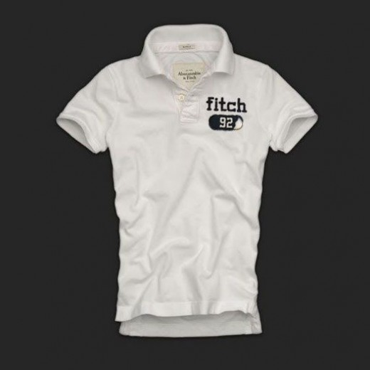 Camisa Polo Branca Abercrombie & Fitch - Cod 0136