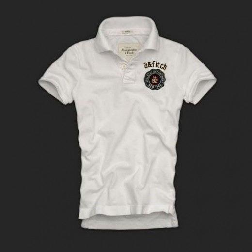 Camisa Polo Branca Abercrombie & Fitch - Cod 0137