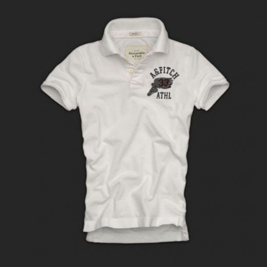 Camisa Polo Branca Abercrombie & Fitch - Cod 0138
