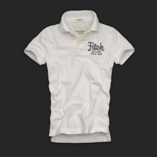 Camisa Polo Branca Abercrombie & Fitch - Cod 0140