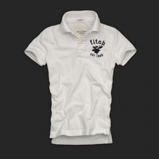 Camisa Polo Branca Abercrombie & Fitch - Cod 0141