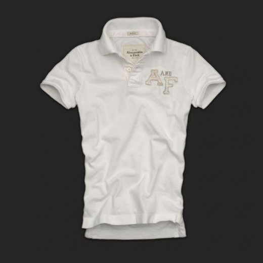Camisa Polo Branca Abercrombie & Fitch - Cod 0143