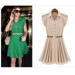 Vestido Verde Casual - Cod 0072