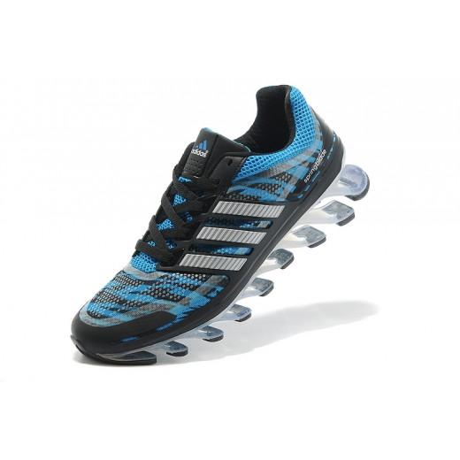 Tênis Adidas Springblade Masculino Preto e Azul Claro Cod 0296