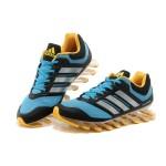 Tênis Adidas SpringBlade Drive Masculino Azul Detalhes Preto e Amarelo Cod 0454