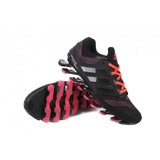 Tênis Adidas SpringBlade Drive Masculino Preto Detalhes Rosa e Vinho Cod 0456