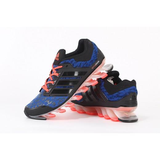 Tênis Adidas SpringBlade Drive Masculino Cor Azul Preto e Laranja Cod 0462