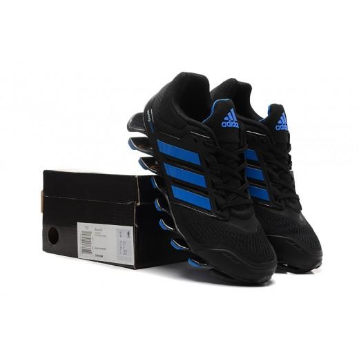 Tênis Adidas SpringBlade Drive Masculino Cor Preto com Detalhes Azul Cod 0467