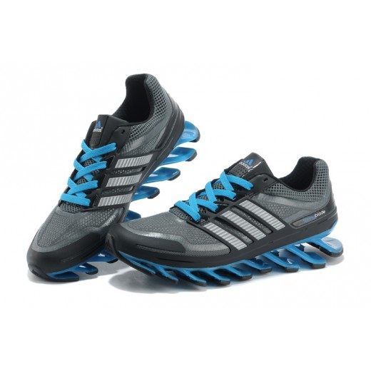 Tênis Adidas SpringBlade Masculino Cinza e Azul Celeste Cod 0265