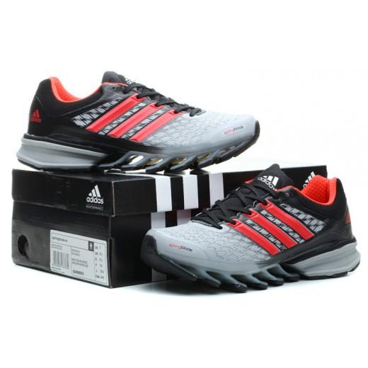 Tênis Adidas SpringBlade FF Masculino Cinza e Vermelho Cod 0382