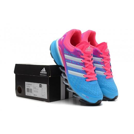 Tênis Adidas SpringBlade FF Feminino Azul Celeste e Laranja Cod 0379