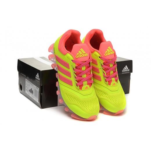 51f27b71a8b Tênis Adidas SpringBlade Drive 2.0 Feminino Cor Verde Limao e Rosa Cod 0688