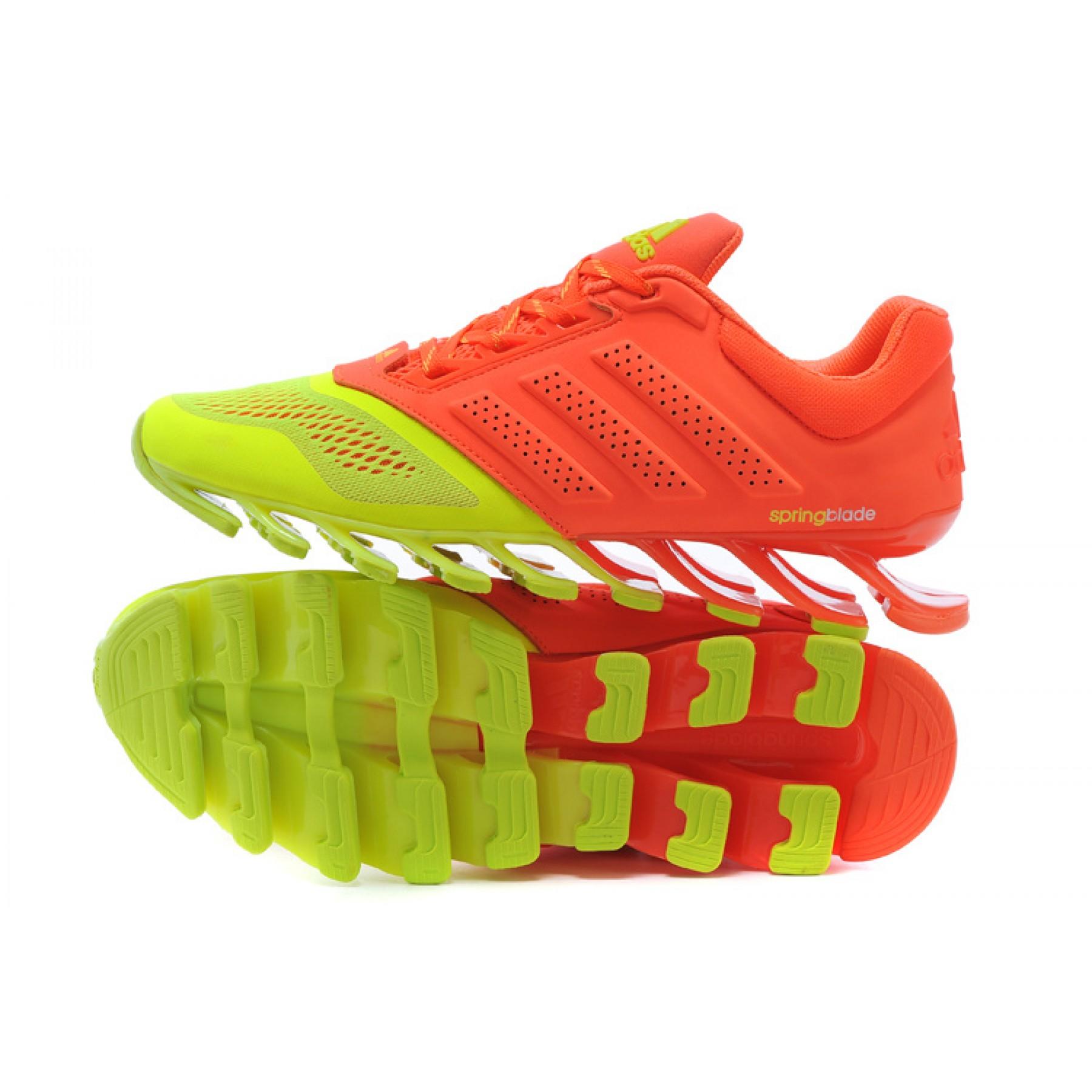 a7f01c00f24ae Tênis Adidas SpringBlade Drive 2.0 Masculino cor Verde Limao com Vermelho  Cod 0689