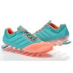 Tênis Adidas SpringBlade Drive 2.0 Masculino cor Laranja com Azul Celeste Cod 0687