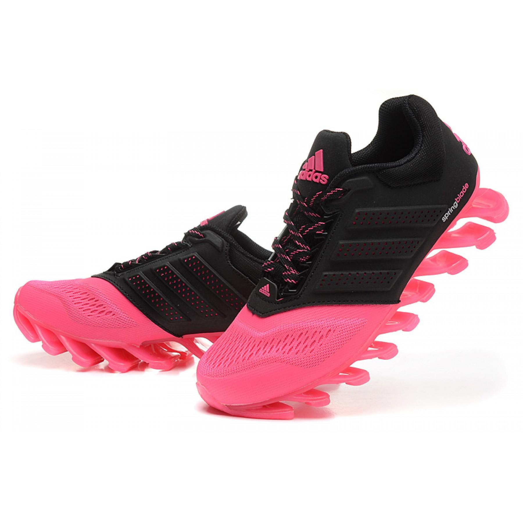 adidas springblade feminino preto com rosa