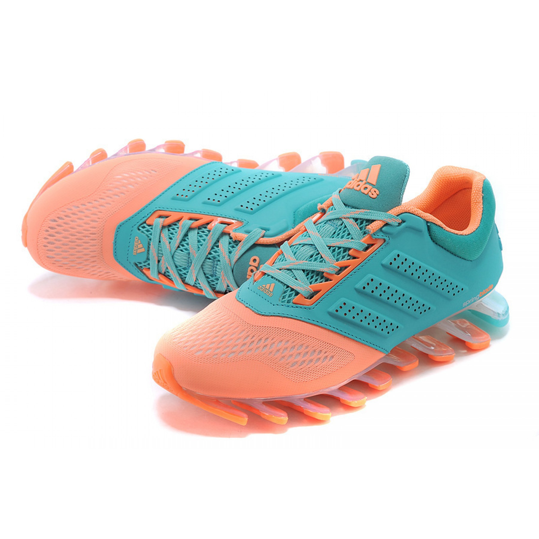 d7a0c551943 Tênis Adidas SpringBlade Drive 2.0 Feminino Cor Azul Claro e Rosa Cod 0545
